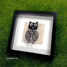 Custom Vinyl Decal Owl Family Monogram Paper Fabric