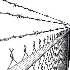 3d Model Chainlink Fence Barbed Wire High Detail 3d Model Flatpyramid