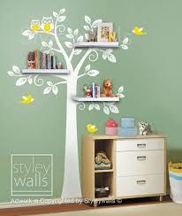 Shelf Shelves Tree Wall Decal Nursery Children Wall Sticker Styleywalls On Artfire