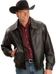 ranch cowboy style leather jacket