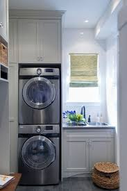 washer and dryer laundry or mud room