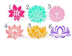 Flower Decal Dahlia Lotus Cute Flower Vinyl Decal Yeti Name Decal Monogram Decal Personalized Vinyl Decals Monogram Decal Football Vinyl Decal