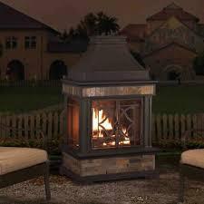 outdoor wood burning fireplace slate