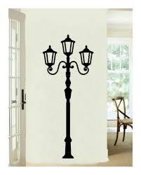 Lamp Light Post Tall Vinyl Wall Decal 22115 Cuttin Up Custom Die Cuts