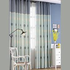 Polka Dots Linen And Cotton Teal Print Grommet Curtains For Kids Room