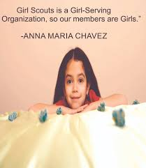 Our Members Are Girls Anna Maria Chavez Quote Girl Scouts Inspiration Motivation Quotes Custom Wall Decal For Bedroom Home Room Walls Vinyl Art Design Decor Sticker Decoration Size 17x30 Inch