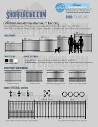 Belhaven Residential Aluminum Fence Section