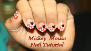 Easy Mickey Mouse Nail Art Tutorial (Polka Dots)