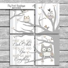 Set Of 4 8x10 Digital Downloads Coordinates With Levtex Baby Night Owl Crib Bedding First We Had Each Other The Baby Room Themes Owl Crib Bedding Owl Nursery