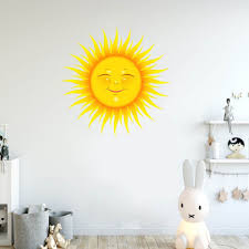 Big Sale 0afe Interesting Sun Wall Sticker Creative Wallpaper Unique Wall Decal Decorative Sticker For Living Room Home Bedroom Cicig Co