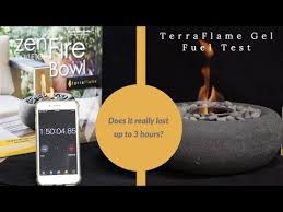 terraflame gel fuel burn test how long