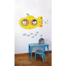 Adzif 50 6 In X 39 In Multi Color Yellow Submarine Kids Wall Decal L6053 Ajv5 The Home Depot