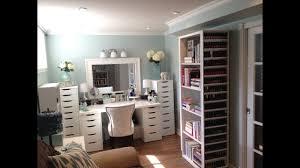 makeup room and makeup collection