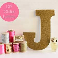 Glitter Letters For The Girly Girl S Decor Kids Room Accessories Tip Junkie