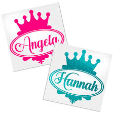 Princess Personalized Decal For Cup Car Or Laptop Decals By Adavis