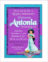 Invitacion Cumpleanos Princesa Jazmin Ideal Para El