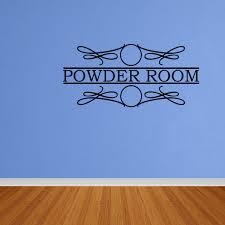 Wall Decal Quote Powder Room Bathroom Words Lettering Vinyl Wall Sticker Decor Dp205 Walmart Com Walmart Com
