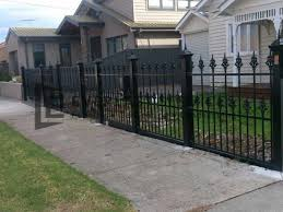 metal wrought iron fence panels