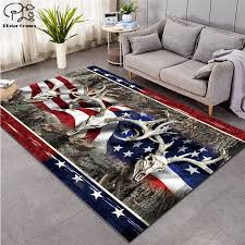 American Flag Deer 3d Carpet For Living Room Area Rug Floor Mat Bedside Hallway Doormat Kids Bedroom Carpet Home Decoration Mat Aliexpress