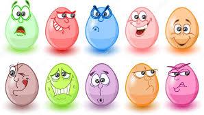 Kreskówka jaja wielkanocne, Święta Wielkanocne — Grafika wektorowa ...