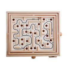 Mê cung gỗ lăn bi trí tuệ trò chơi gỗ thông minh cho bé