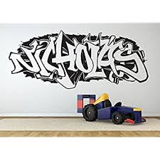 Amazon Com Wall Room Decor Art Vinyl Sticker Mural Decal Nicholas Graffiti Name Boy Poster Bedroom Nursery Kids Playroom As2800 Home Kitchen