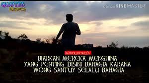 quotes keren wong santuy slalu bahagia