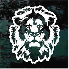 Lion Face Car Decals Window Stickers Customized Decal Junky