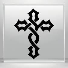 Simple Color Vinyl Celtic Cross Stickers Factory