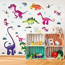Dinosaur Footprints Wall Sticker Cartoon Animal Vinyl Decal Boy Room Home Decor