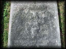 Headstones: Addie Cook Green Proctor: House Of Proctor Genealogy