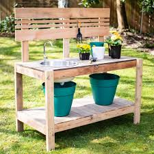 diy potting bench with sink the