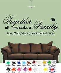 Personalised Together We Make A Family Wall Art Quotes Wall Stickers Decal Ebay