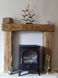 mantle fireplace beam fire surround