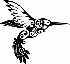 Tribal Hummingbird Design Vinyl Decal Sticker For Yeti Rtic Tumbler Home Garden Home Decor Decals Stickers Vinyl Art Bird Silhouette Vinyl Art Vinyl