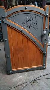 Gate Wood Panel With Metal Parts Horse Head Metal Gates Backyard Gates Door Design