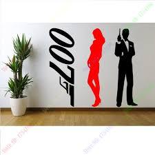 007 Set Of 3 Stickers Large Wall Sticker Many Colours New Vinyl Wall Decal Vinyl Wall Decals Wall Decalsvinyl Wall Aliexpress