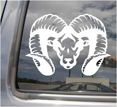 Amazon Com Right Now Decals Ram Head Male Sheep Farm Cars Trucks Moped Helmet Hard Hat Auto Automotive Craft Laptop Vinyl Decal Store Window Wall Sticker 01530 Home Kitchen