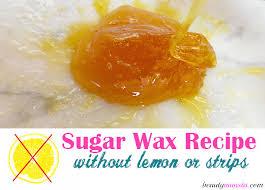 easy sugar wax recipe no lemon juice