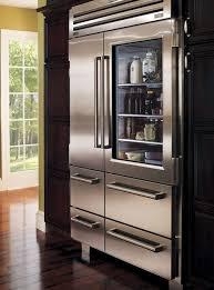 sub zero pro 48 refrigerator with glass