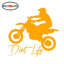 2020 Wholesale Car Window Sticker Outdoor Decal Dirt Bike Dirt Life Car Stickers Styling Accessories Black Sliver From Zhangmin771215 26 14 Dhgate Com