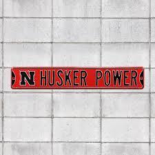 Nebraska Cornhuskers Husker Power Officially Licensed Metal Street Fathead Llc
