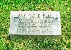 Addie Cole Ellett (1855-1937) - Find A Grave Memorial