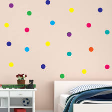 Amazon Com Wall4stickers Polka Dot Wall Stickers Rainbow Multicolour 50mm 100pcs Decal Childs Kids Vinyl Art Home Decor Spots Mural Home Kitchen