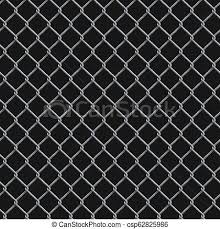 Seamless Realistic Chain Link Fence Background On Black Seamless Realistic Chain Link Fence Background Vector Mesh Isolated Canstock