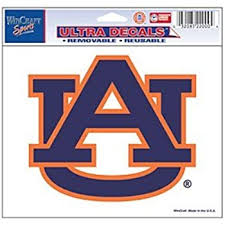 Amazon Com Auburn Tigers Removable 4 5 X6 Multi Use Ultra Car Decal Sports Fan Automotive Decals Sports Outdoors