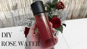 diy rose water makeup setting spray