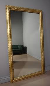 large antique victorian gilt mirror