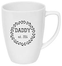 Father S Day Drink Bottle Coffee Mug Decal Daddy Est 2018 The Sprinkle Studio On Madeit