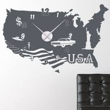 Style And Apply Usa Wall Clock Wall Decal Wayfair